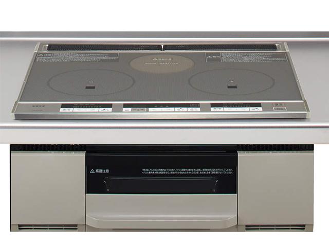 クリナップ 2口IH+ラジエントヒーター(W600)